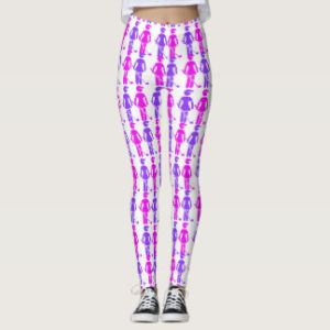 woman golfer legging pink purple