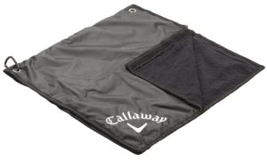 callaway golf rain hood towel, golf rain gear, golf weather accessories