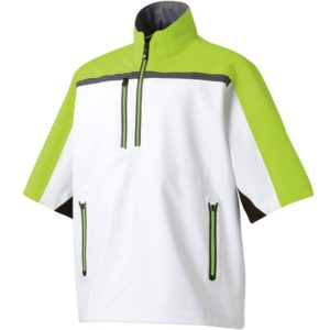 footjoy short sleeve pullover rain jacket, best golf rain gear, golf rain apparel