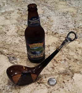 golf club bottle opener, golf gifts for beer drinkers, drinking golf gifts
