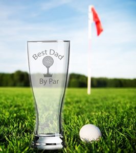 golf dad gift, golf dad beer glass, drinking gift for dad who golfs
