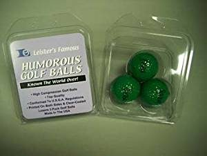 golf gag gift, dark green golf balls, impossible to find golf prank