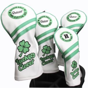 leather golf club head covers, lucky golf headcovers
