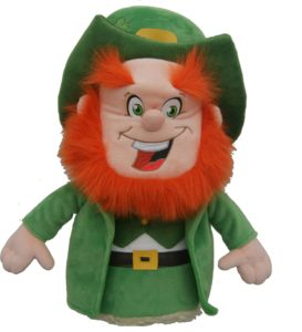 lucky irish leprechaun golf driver headcover, leprechaun golf head cover, luckey golf club headcover