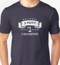 national 3 putt champion golf humor shirt, funny golf shirt for bad putters, golf joke shirt