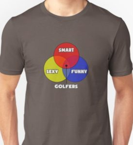 venn diagram golfers, funny golf t shirt, humorous shirts for golfers